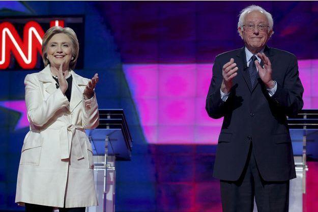 Hillary Clinton et Bernie Sanders, le 14 avril dernier.