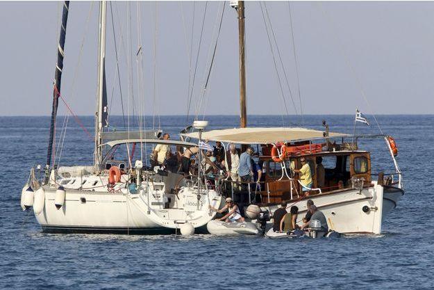 Le navire des militants pro-palestiniens avait quitté Crète le 26 juin.
