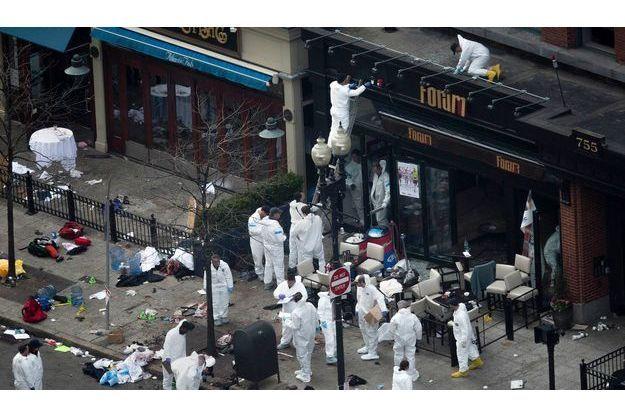 La scène des explosions de Boston, le 15 avril dernier.