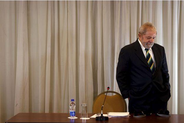 L'ancien président brésilien Lula, en mars 2016.