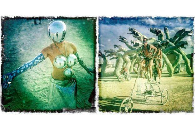 Une invitation à déguster des pancakes, du vélo en plein désert... Une journée normale au Burning Man.