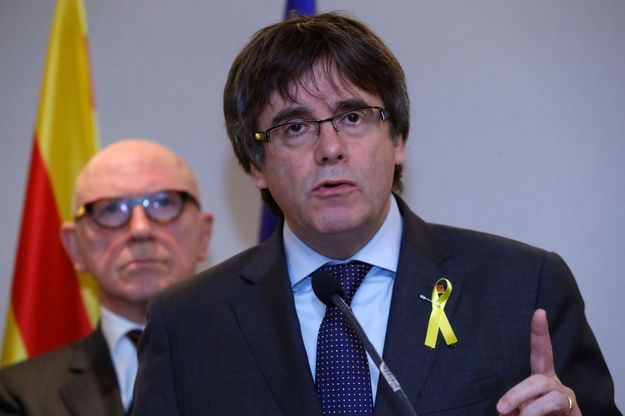 Carles Puigdemont à Bruxelles, le 6 novembre 2017.