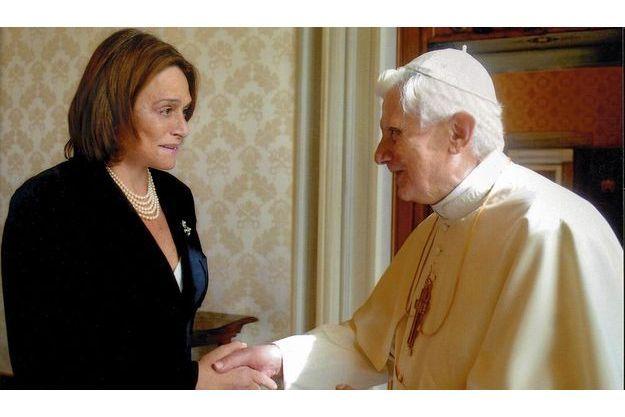 Caroline Pigozzi et Benoît XVI