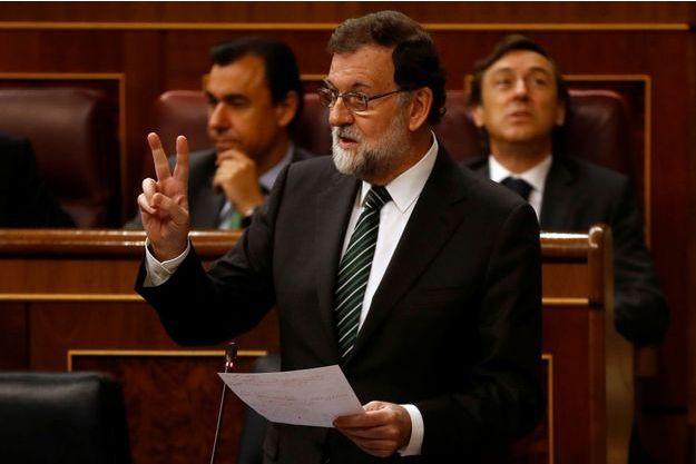 Mariano Rajoy, mercredi au Parlement, à Madrid.