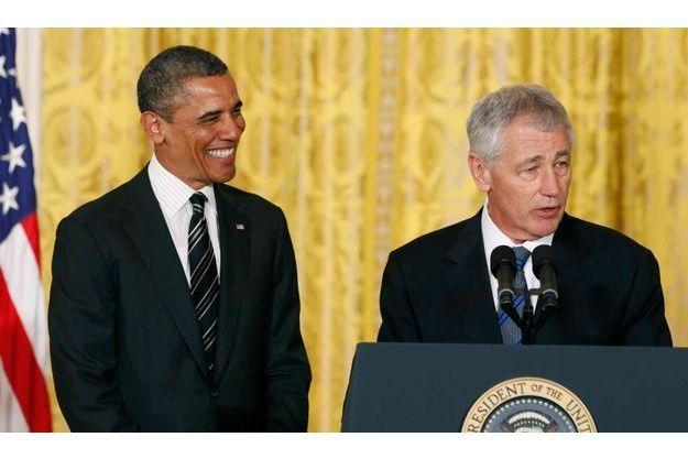 Barack Obama et Chuck Hagel.