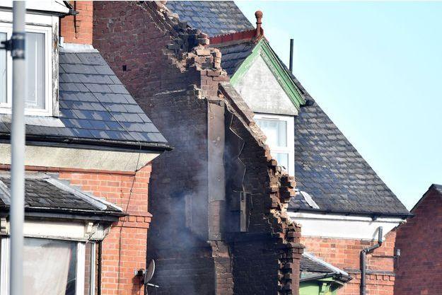 Immeuble explosé à Leicester en Angleterre