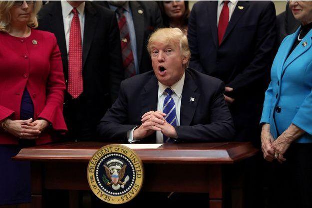 Donald Trump à la Maison Blanche, le 27 mars 2017.