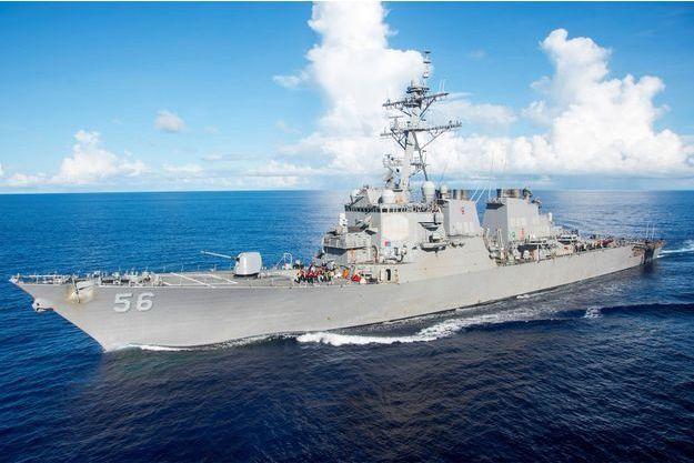 Un destroyer américain. Image d'illustration.