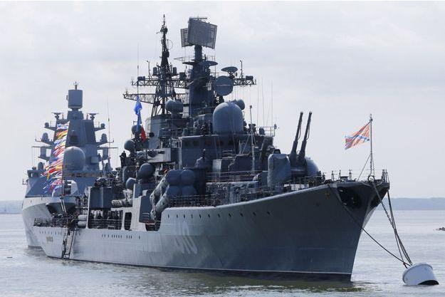 Le destroyer russe Nastoichivy photographié en juillet dernier dans la baie de Stalingrad.
