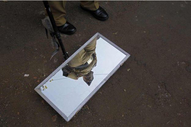 Un policier à Bombay (photo d'illustration).