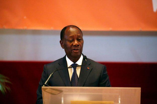 Le président ivoirien Alassane Ouattara, en avril 2018.