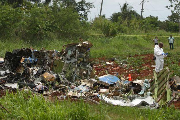 L'avion s'est écrasé vendredi dernier à Cuba.