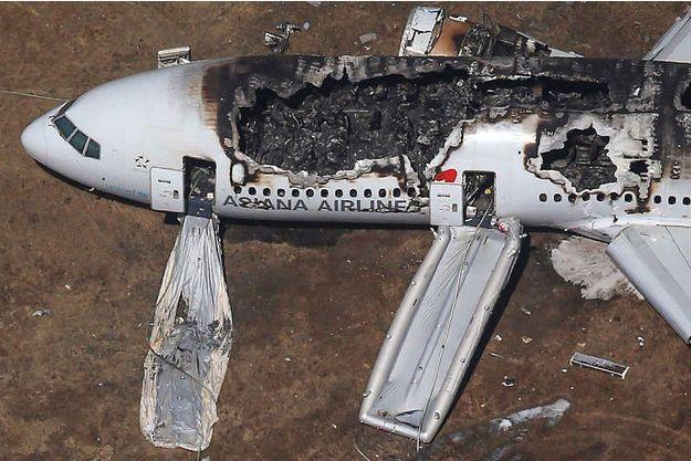 La carcasse du Boeing 777