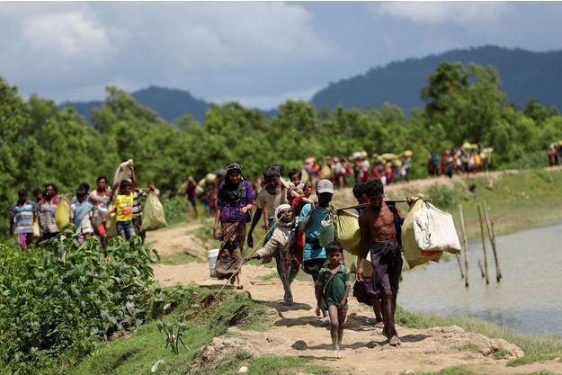 Des réfugiés rohingyas au Bangladesh.
