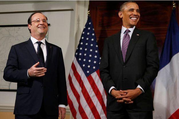 François Hollande et Barack Obama à la résidence de Thomas Jefferson, en Virginie.