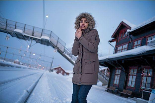 A la gare de Gällivare, en Suède, la température avoisine parfois les moins 25°C.