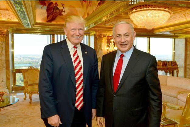 Donald Trump et Benjamin Netanyahou en septembre 2016.