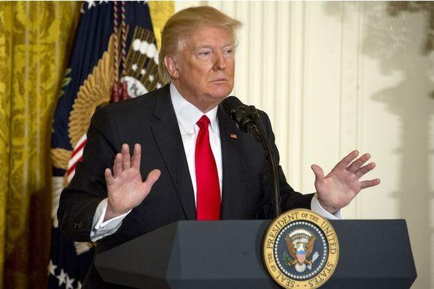 Donald Trump à la Maison Blanche, le 16 février 2017.