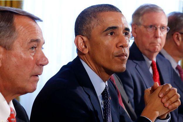 Le 7 novembre, le président Obama reçoit dans la Old Family Dining Room les républicains brillamment élus.
