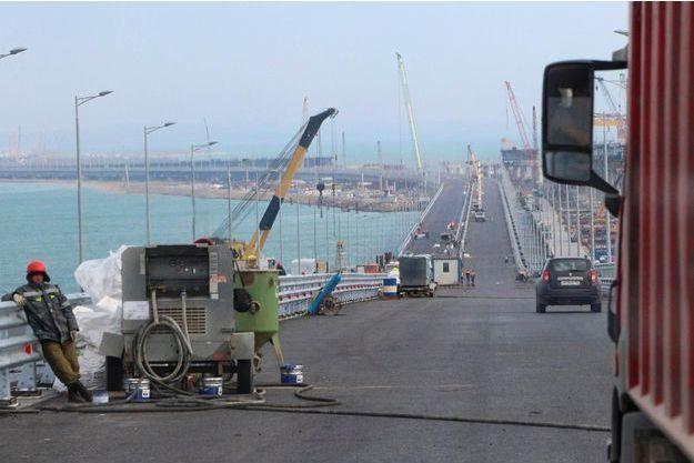 Un pont reliant la Crimée à la Russie à Krasnodar, en avril 2018.