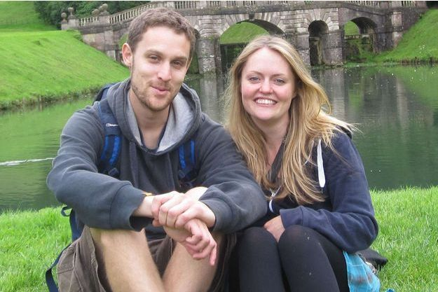 Mike Branford et sa fiancée Kate Robertson.