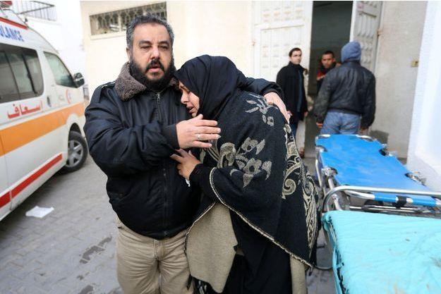 La soeur de l'un des deux Palestiniens tués.
