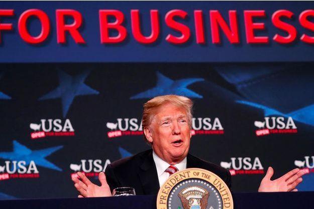 Donald Trump à Hialeah, en Floride, le 16 avril 2018.