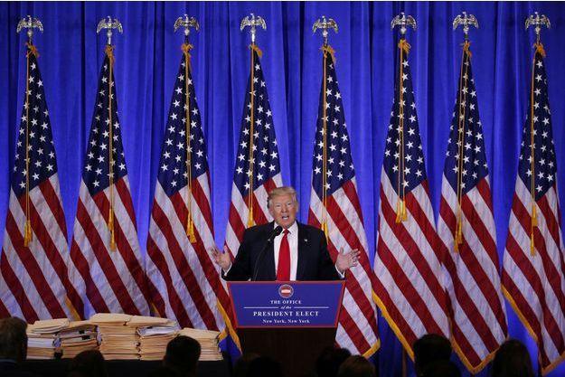 Donald Trump en conférence de presse mercredi.
