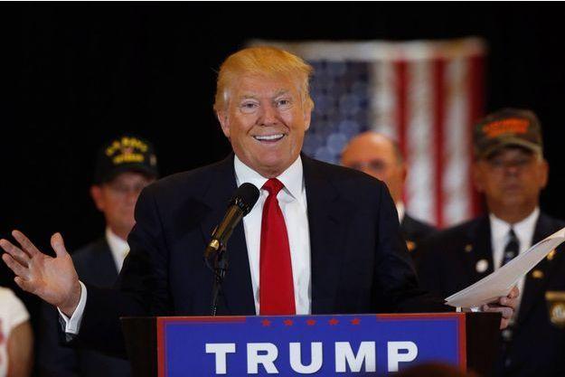 Donald Trump lors de la conférence de presse donnée mardi à New York.