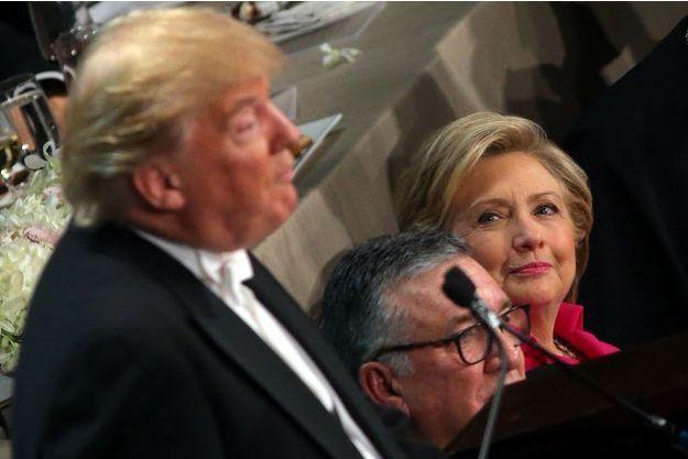 Donald Trump et Hillary Clinton à New York, le 20 octobre 2016.