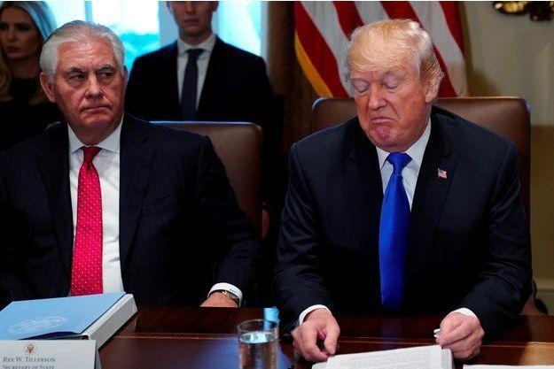 Rex Tillerson et Donald Trump à la Maison-Blanche, en décembre 2017.