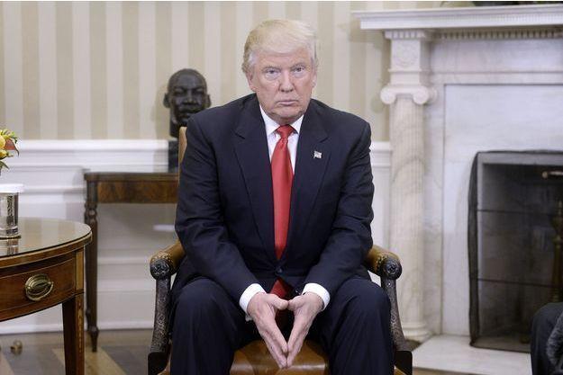 Donald Trump lors de sa visite à la Maison Blanche, le 10 novembre 2016.