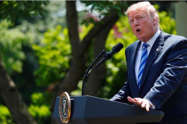 Donald Trump à la Maison-Blanche, le 11 mai 2018.