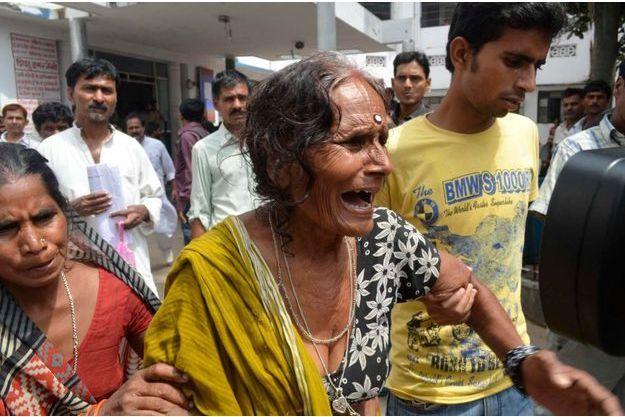 La grand-mère d'une des victimes.