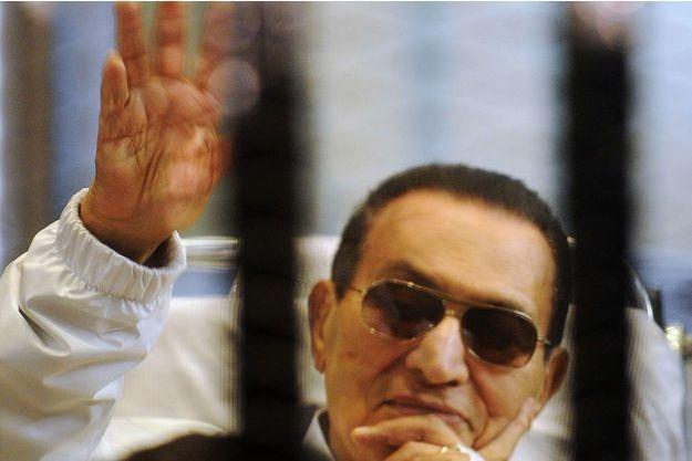L'ancien président égyptien Hosni Moubarak, en avril 2013.