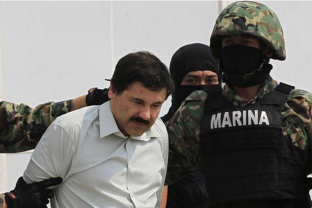 Joaquin Guzman, alias El Chapo, à son interpellation en février 2014.