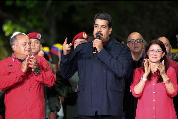 Le président vénézuélien Nicolas Maduro dimanche.