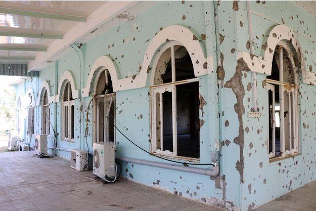 La mosquée du complexe attaqué par les talibans la semaine dernière.