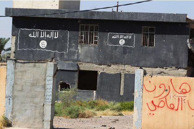 Un bâtiment utilisé comme tribunal par le groupe terroriste Etat islamique à Hawija, en Irak, en octobre 2017.