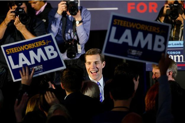 Le démocrate Conor Lamb à Canonsburg, le 13 mars 2018.