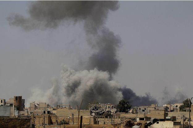 Combats à Raqqa, le 20 août 2017.