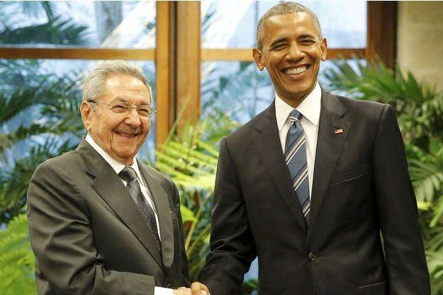 Raul Castro et Barack Obama à Cuba, le 21 mars 2016.