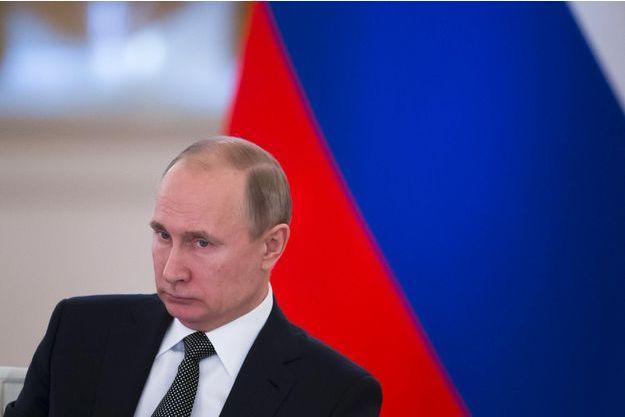 Vladimir Poutine au Kremlin, le 5 avril 2018.