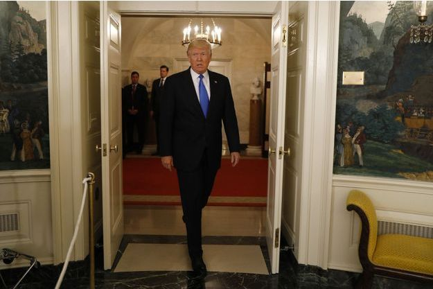 Donald Trump mercredi à la Maison Blanche.