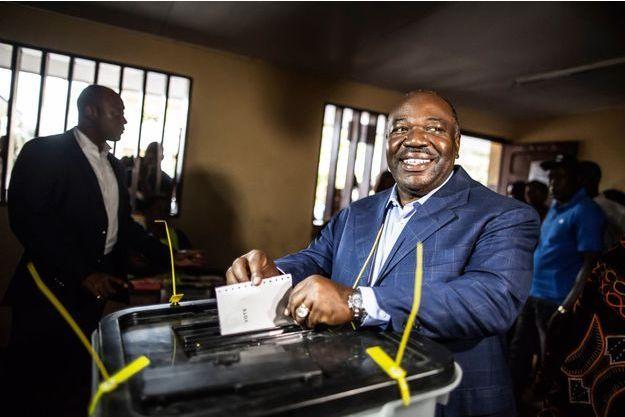 Ali Bongo lors du second tour de la présidentielle gabonaise.