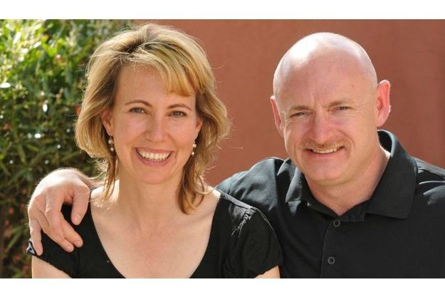 Gabrielle Giffords et son mari Mark Kelly.