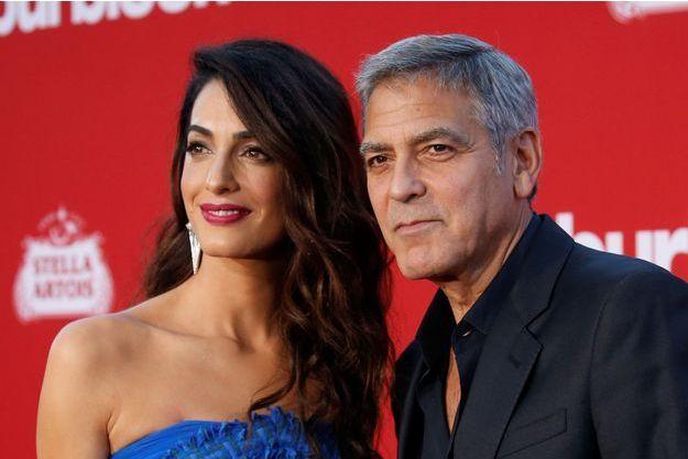 Amal et George Clooney en octobre 2017.