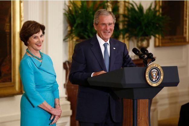 Laura et George W. Bush en 2012.