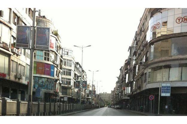 Les rues vides de Damas.