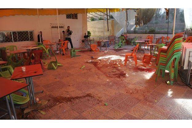 L'université de Damas après l'attentat.